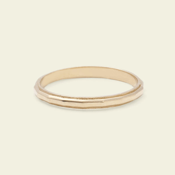 Faceted Band (14k Yellow Gold)
