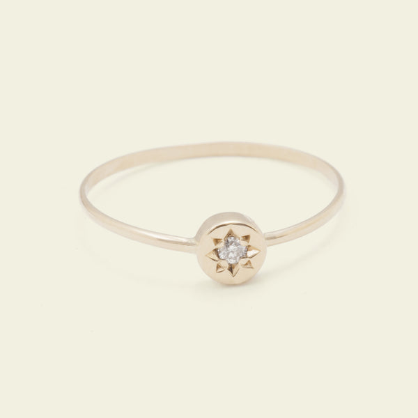 Gypsy Spark Ring (14k Yellow Gold)