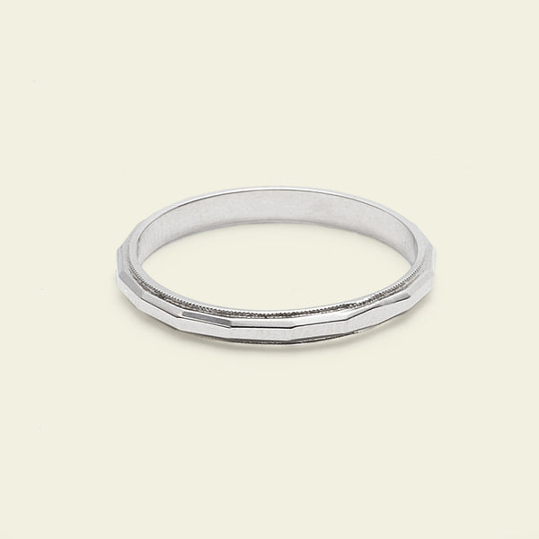 Faceted Band (14k white gold)