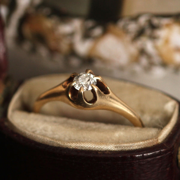 Buttercup .18ct Transitional Cut Diamond Solitaire