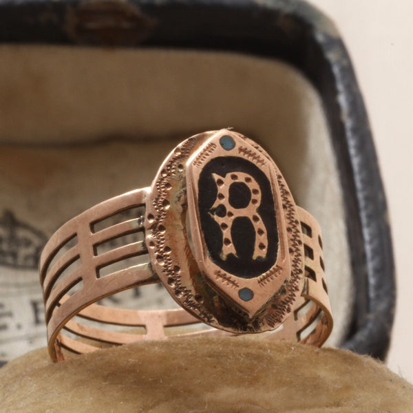 "Victorian ""R"" Ring"