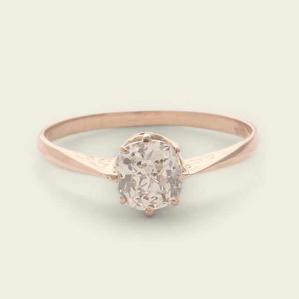 .76ct Crown Jubilee Cushion Diamond Solitaire