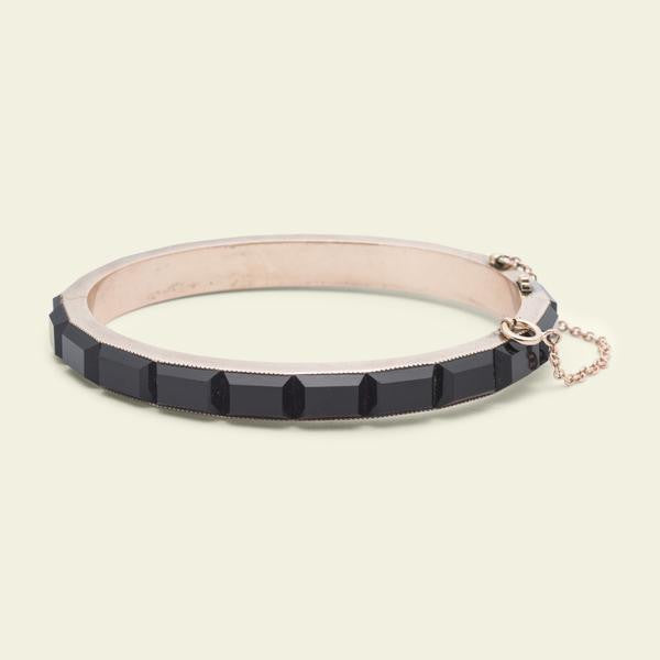 Victorian Rose Gold and Onyx Bracelet - Layaway - 2nd deposit