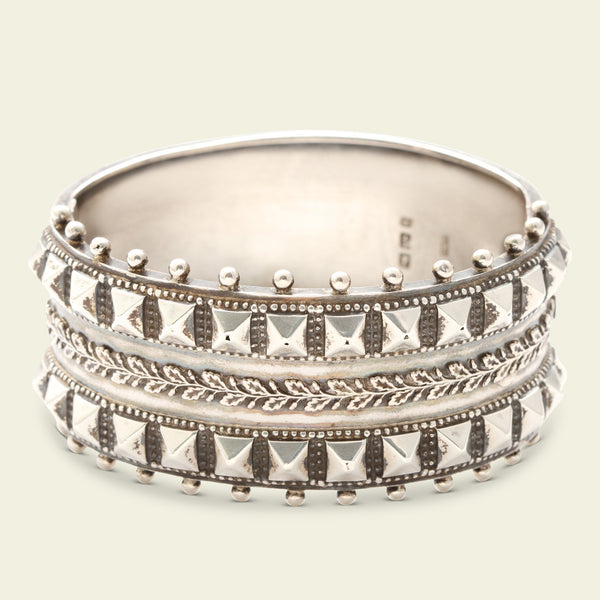 Late Victorian Silver Studded Cuff