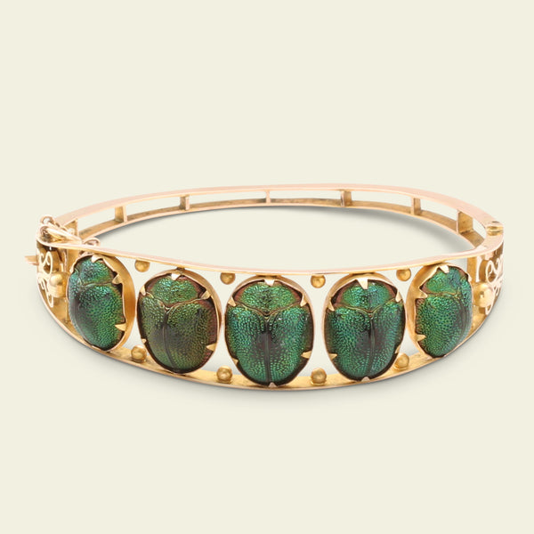 Victorian Scarab Beetle Bangle