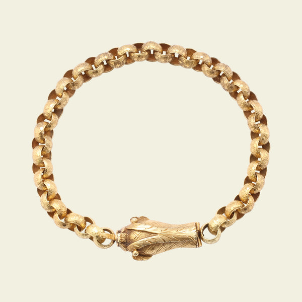 Georgian High Karat Gold Dolphin Bracelet