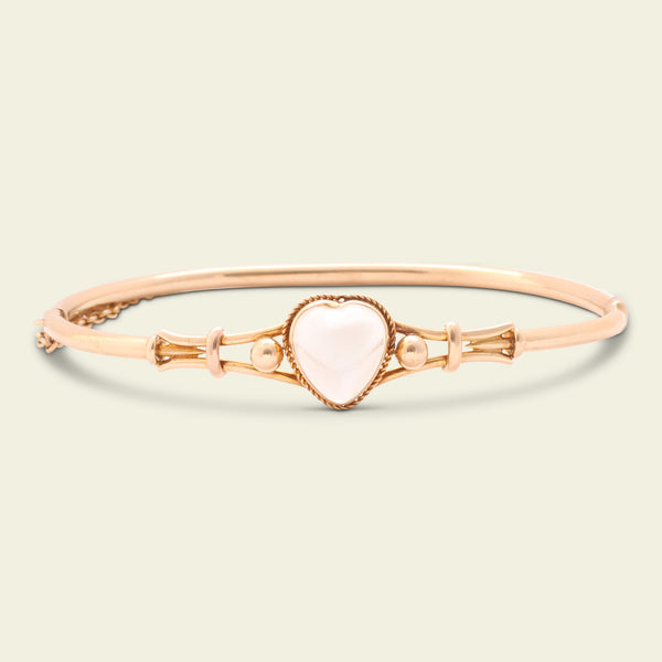 Edwardian Moonstone Heart Bangle