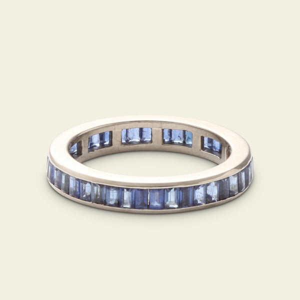 Contemporary Sapphire Eternity Ring
