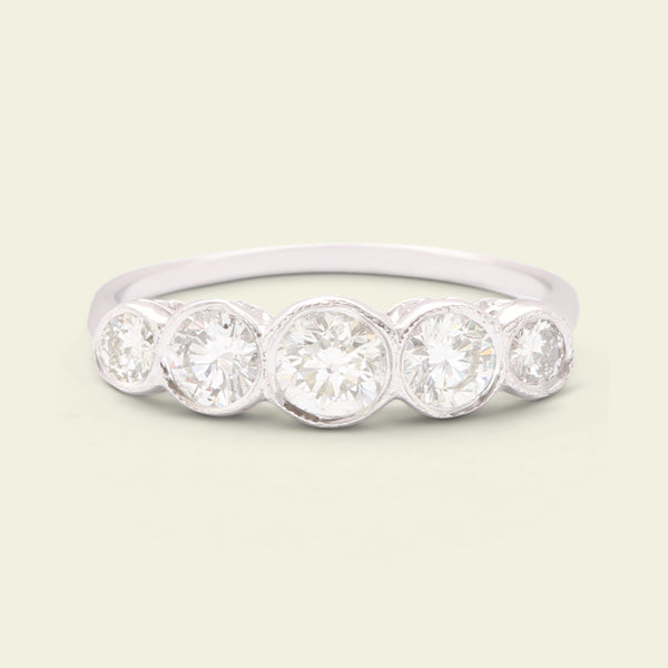 Contemporary Five Stone Diamond Ring