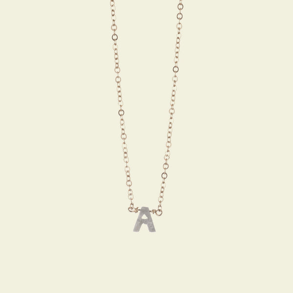 Diamond Alphabet Necklaces