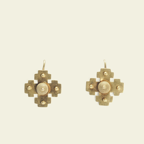 Victorian Crosslet Earrings