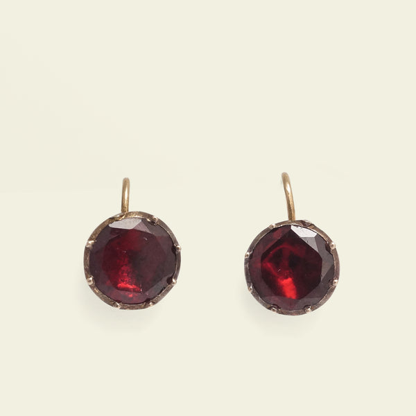 Georgian Garnet Earrings
