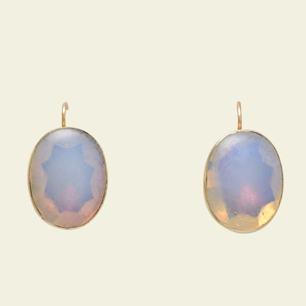 Georgian Opaline Paste Earrings