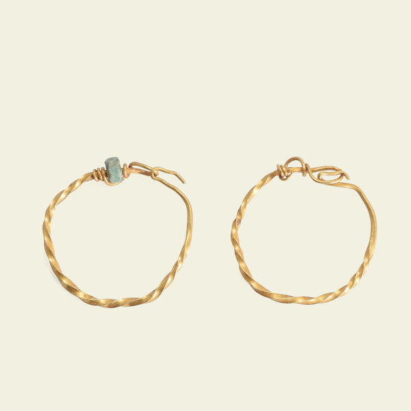 Ancient Roman Twisted Wire Hoop Earrings