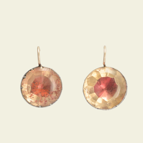 Georgian Topaz-Hued Paste Earrings