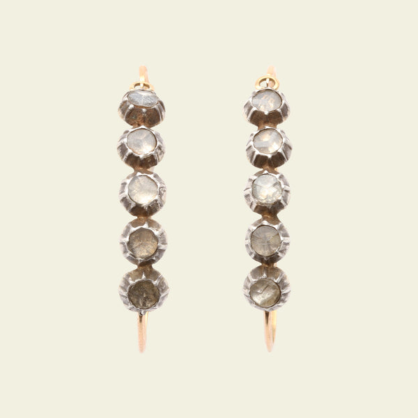 French Crystal Poissarde Earrings