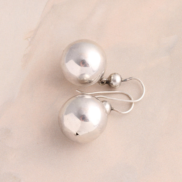 Victorian Silver Ball Earrings