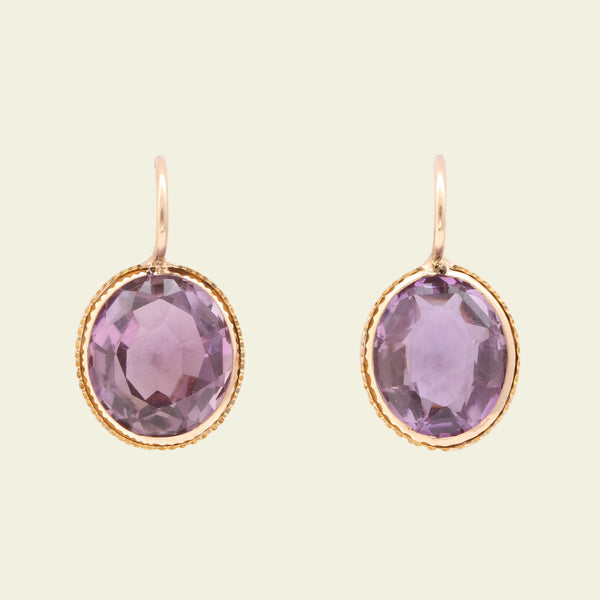 Edwardian Amethyst Earrings