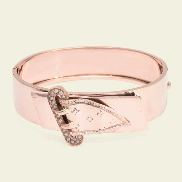 Victorian Rose Gold Belt Bangle