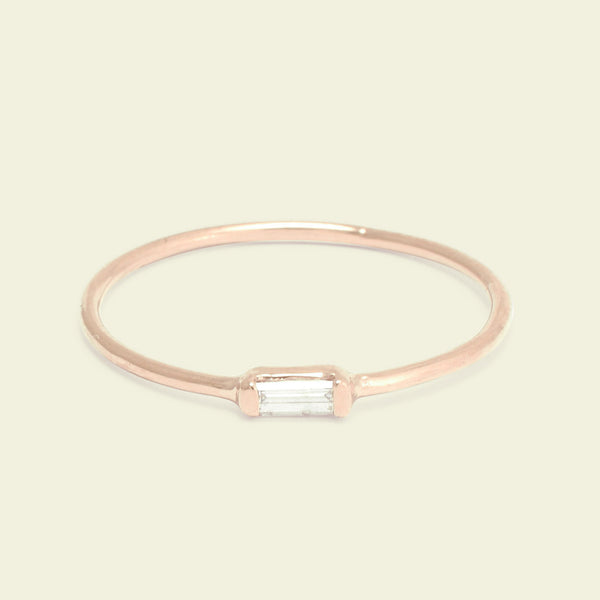 Diamond Baguette Ring (Rose Gold)