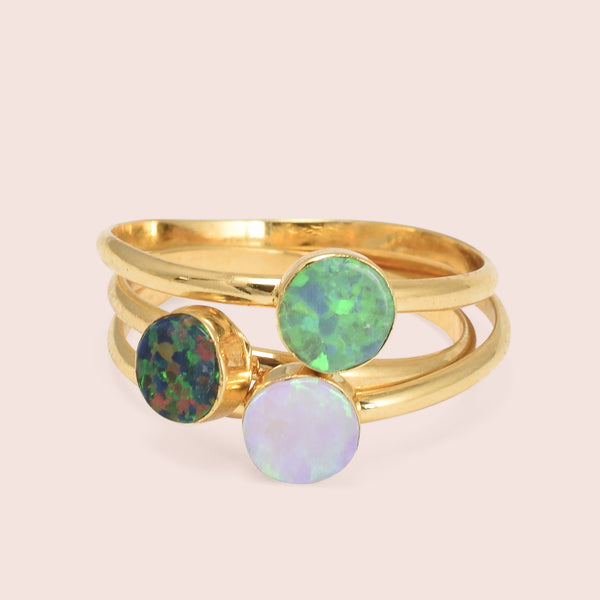 Golden Circle Opal Rings