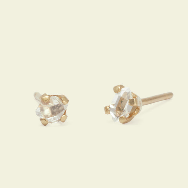 Micro Herkimer Diamond Earrings