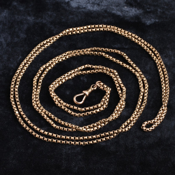 Victorian 9k Rose Gold Guard Chain