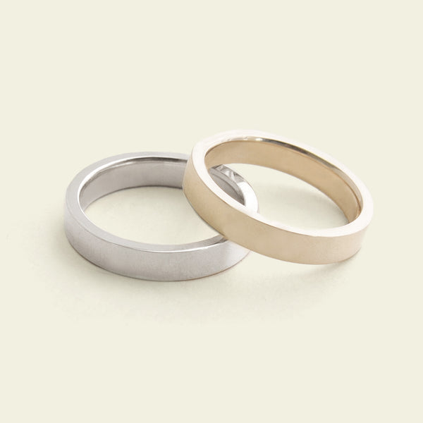 Flat Recycled Gold Band