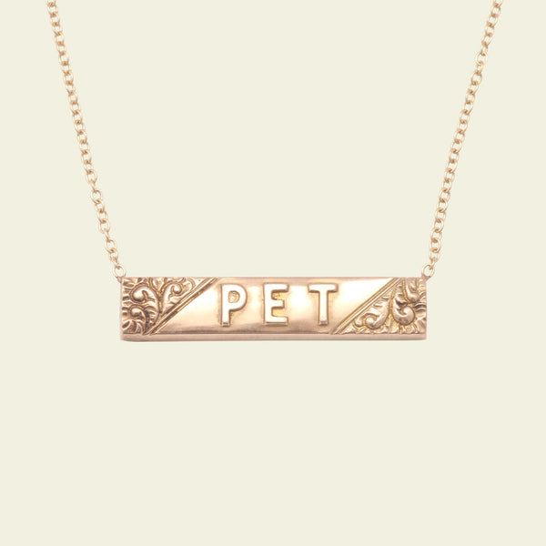 "Edwardian ""Pet"" Bar Necklace"