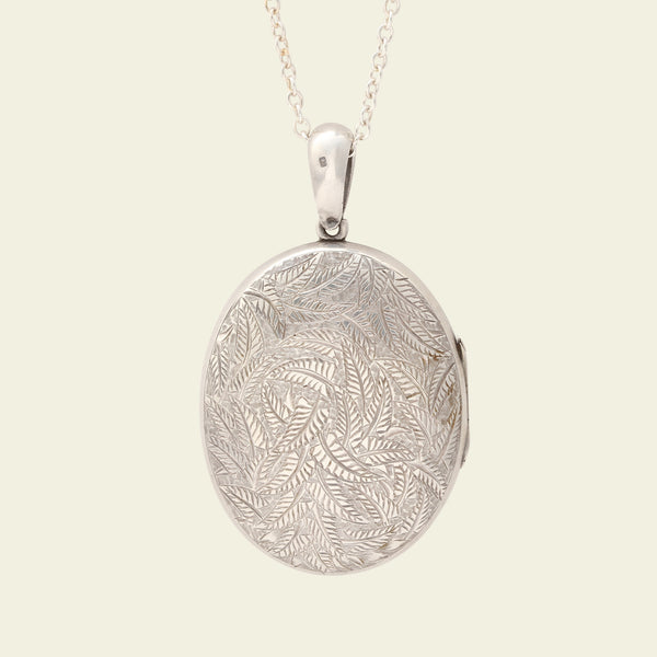 Victorian Silver Fern Locket