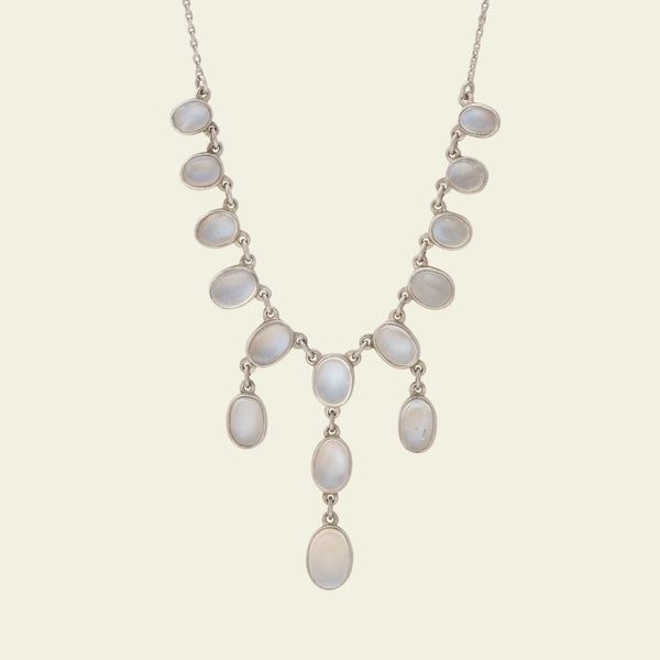 Arts and Crafts Silver Moonstone Festoon