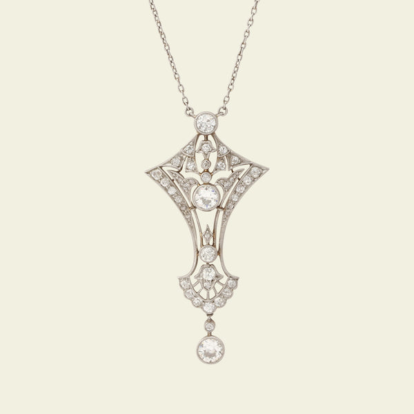 Edwardian Diamond Lavaliere