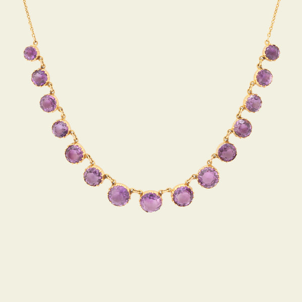 Edwardian Graduated Amethyst Collar
