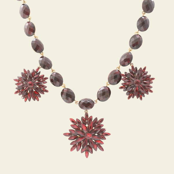 Red Vauxhall Glass Necklace
