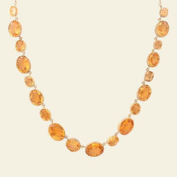 Victorian Orange and Peach Paste Necklace