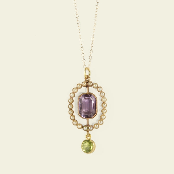 Edwardian Suffragette Colors Pendant