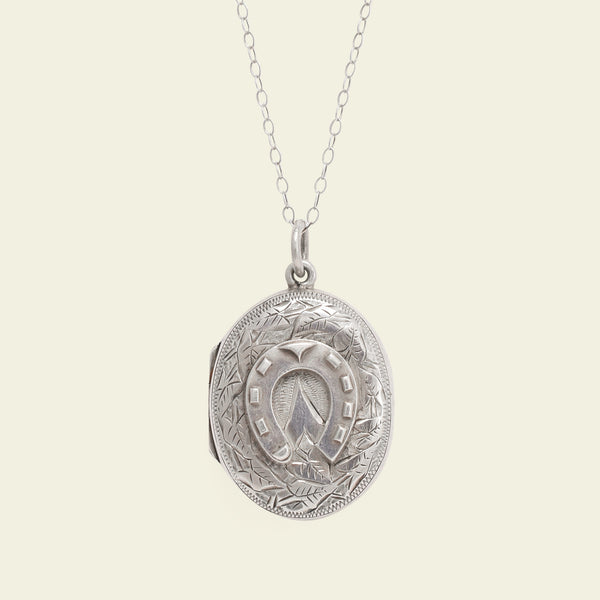 Victorian Silver Horseshoe Locket