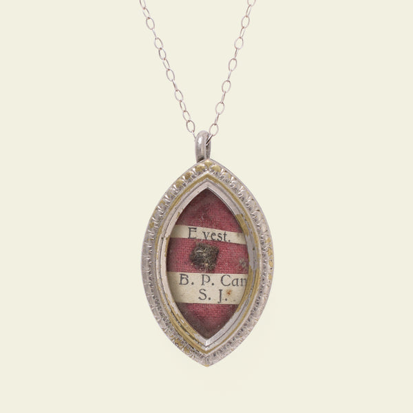 Navette-Shaped Reliquary Pendant for Pope John Paul I