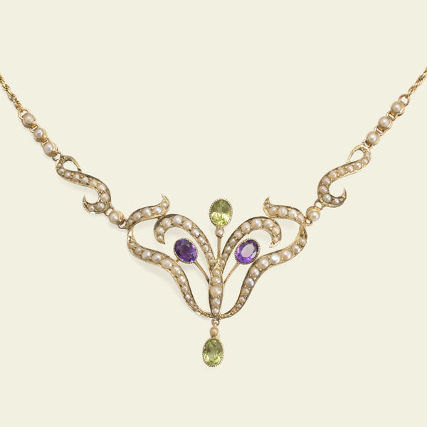 Edwardian Suffragette Colors Necklace