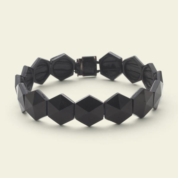French Jet Hexagon Collar