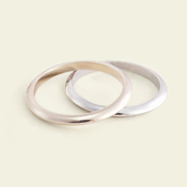 Knife-Edge Recycled Gold Wedding Band