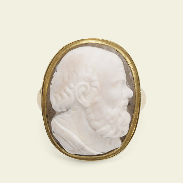 Georgian Socrates Cameo Ring