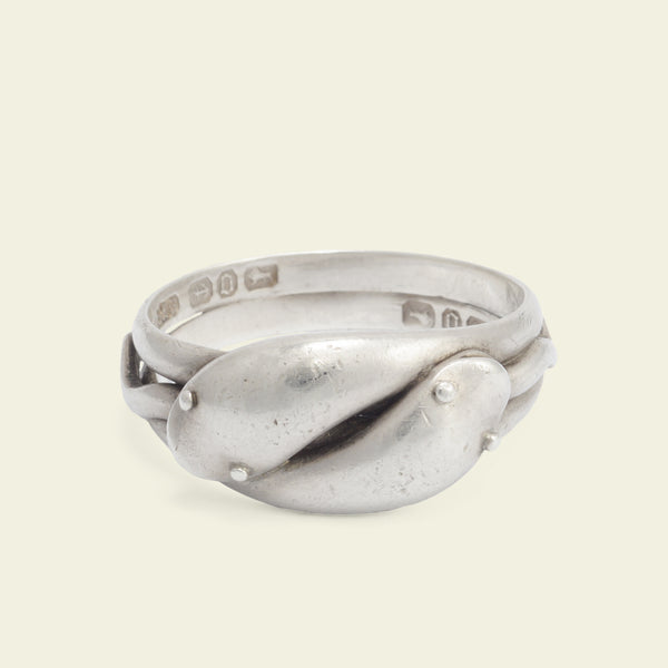 Victorian Silver Double Snake Ring