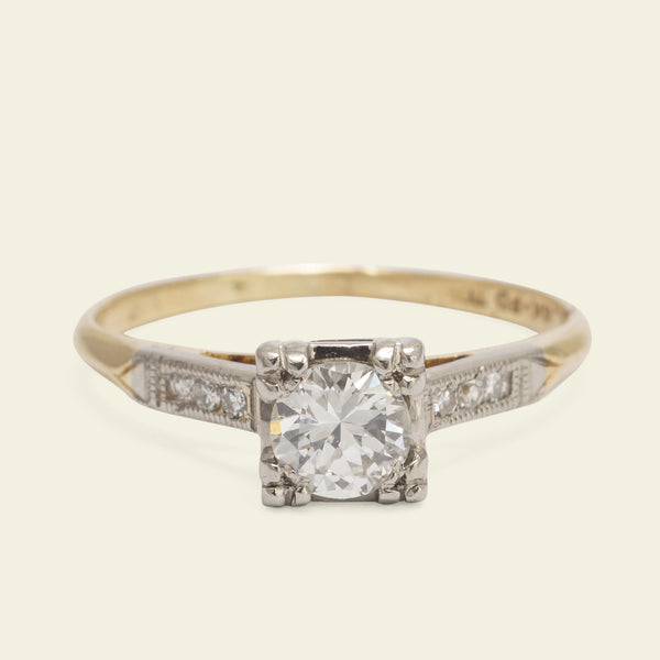 1940s .35ct Diamond Engagement Ring
