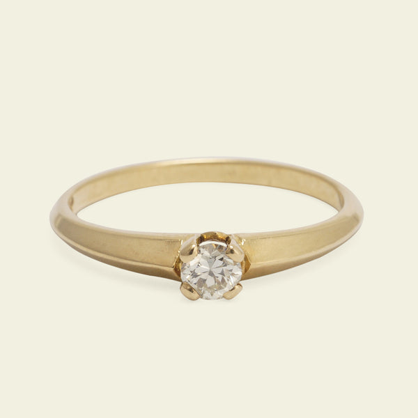 Retro .15ct Diamond Solitaire