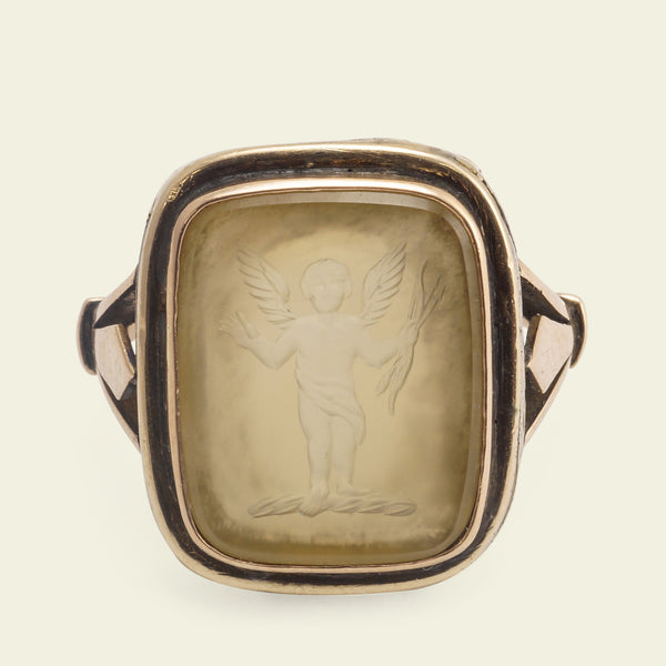 Georgian Cupid Intaglio Ring