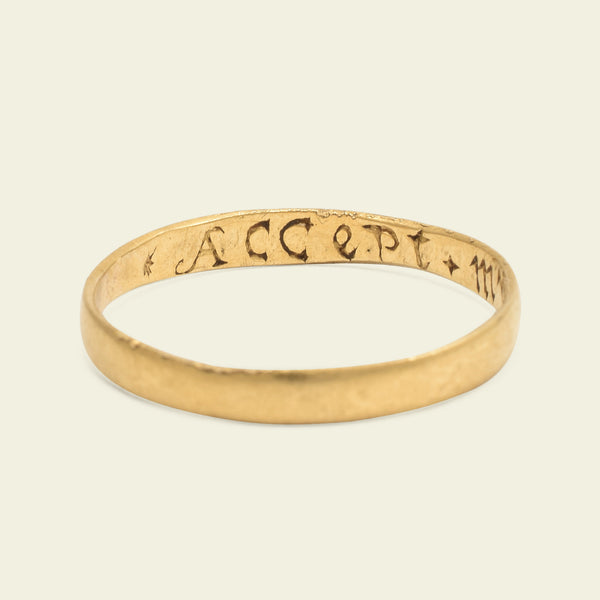 """Accept + My + Good Wil"" Poesy Ring"