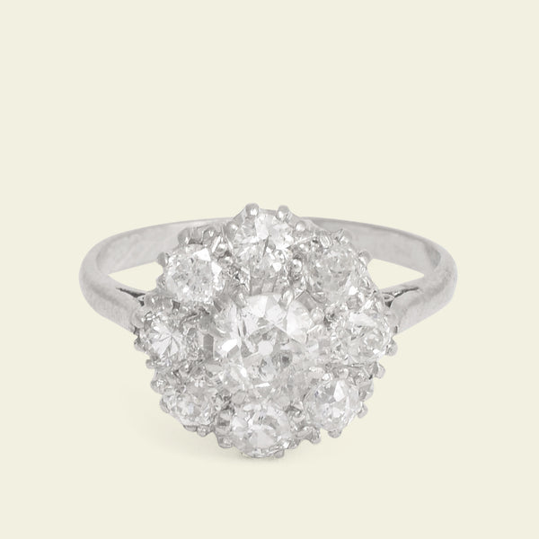 Edwardian 1.15ctw Diamond Cluster Ring