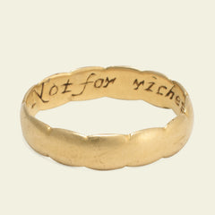 """Not for riches but for love"" Poesy Ring"