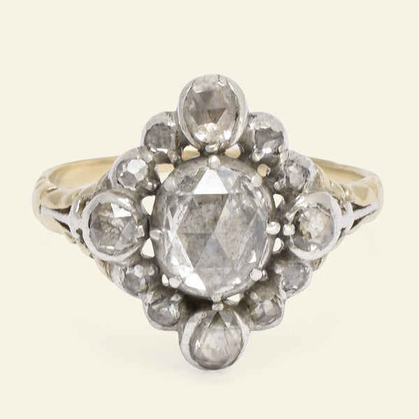 Layaway Christine Murray Georgian Cardinal Points Diamond Cluster Ring - 2nd payment
